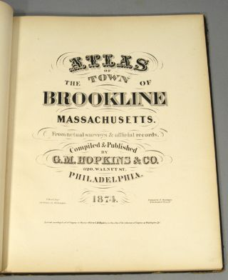ATLAS OF THE TOWN OF BROOKLINE MASSACHUSETTS