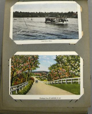 134 POSTCARDS, MOSTLY MASSACHUSETTS & NEW HAMPSHIRE, CIRCA 1935-1938