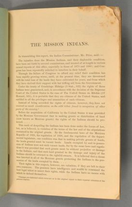REPORT OF MRS. HELEN HUNT JACKSON AND ABBOT KINNEY ON THE MISSION