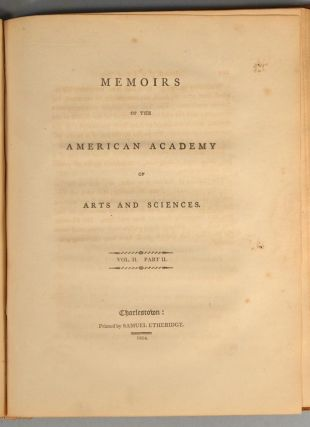 MEMOIRS OF THE AMERICAN ACADEMY OF ARTS AND SCIENCES