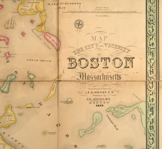 MAP OF THE CITY AND VICINITY OF BOSTON MASSACHUSETTS