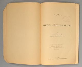 MANUAL OF CINCHONA CULTIVATION IN INDIA