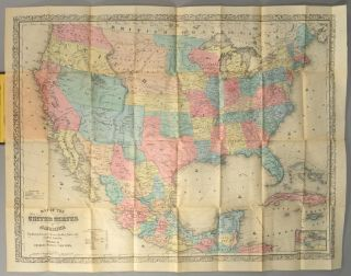 MAP OF THE UNITED STATES OF AMERICA, THE BRITISH PROVINCES, MEXICO,