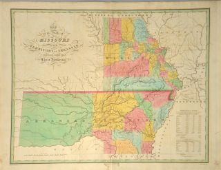 MAP] MISSOURI AND THE TERRITORY OF ARKANSAS. Anthony FINLEY