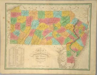 MAP], PENNSYLVANIA NEW JERSEY AND DELAWARE. Anthony FINLEY
