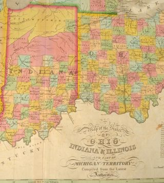 [MAP], OHIO, INDIANA AND ILLINOIS, AND PART OF THE MICHIGAN TERRRITORY