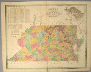 MAP], VIRGINIA AND MARYLAND. Anthony FINLEY