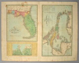 MAP], FLORIDA, THE WEST INDIES. Anthony FINLEY