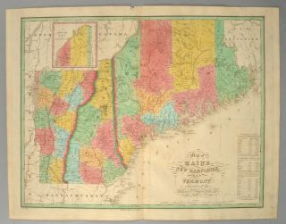 [MAP], MAINE, NEW HAMPSHIRE AND VERMONT.