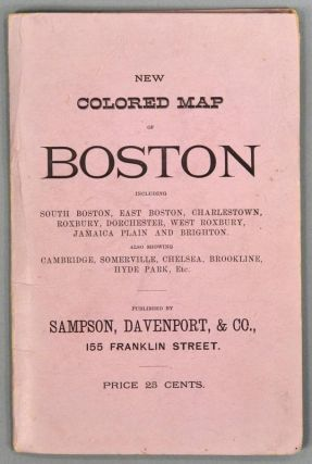 MAP OF BOSTON. 1883. PUBLISHED EXPRESSLY FOR THE BOSTON DIRECTORY. DAVENPORT SAMPSON, CO