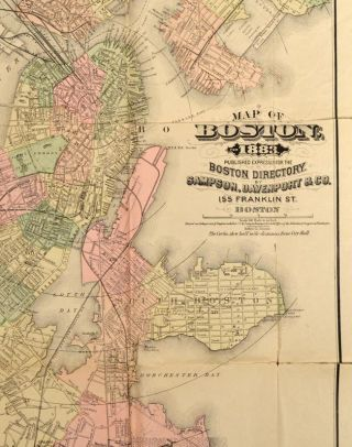 MAP OF BOSTON. 1883. PUBLISHED EXPRESSLY FOR THE BOSTON DIRECTORY.