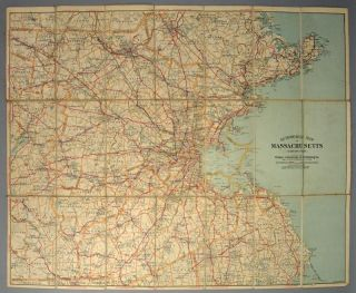 AUTOMOBILE MAP OF EASTERN MASSACHUSETTS