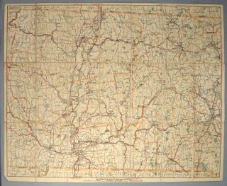 AUTOMOBILE MAP OF CENTRAL MASSACHUSETTS