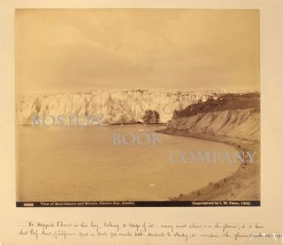 PHOTOGRAPH: VIEW OF MUIR GLACIER AND MORAIN, GLACIER BAY ALASKA