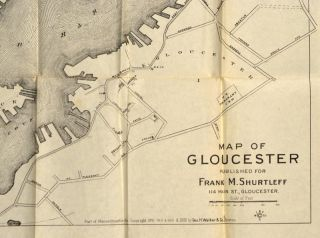 POCKET MAP OF GLOUCESTER CITY MASSACHUSETTS
