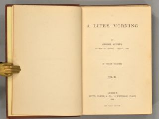 A LIFE'S MORNING. In Three Volumes.