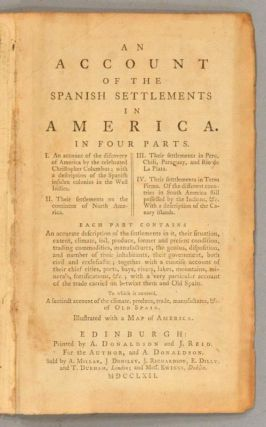 ACCOUNT OF THE SPANISH SETTLEMENTS IN AMERICA