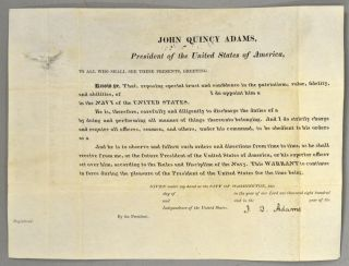 JOHN QUINCY ADAMS, President of the United States of America. John Quincy -- Autograph ADAMS