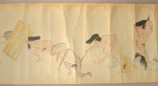 [hōhi gassen 放屁合戦 and yōbutsu kurabe 腰物くらべ ] [farting match and phallic competition].